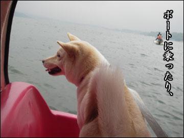 山中湖と戯れる-3コマ