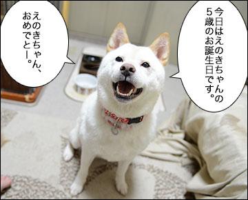 えのきちゃん5歳の誕生日-1コマ